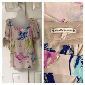 Vintage 1990s Nanette Lepore  pink silk top sz 10